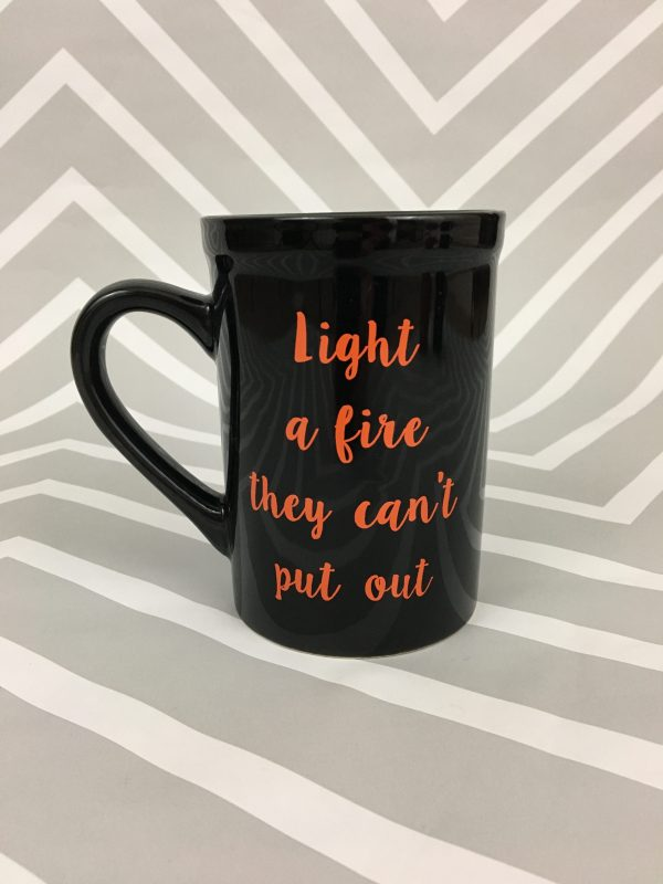Quirky Coffee Cups - Light a Fire Coffee Cup