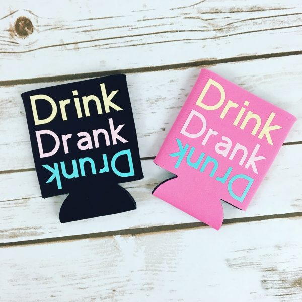 Quirky Can Coolers - Drink Drank Drunk Can Cooler