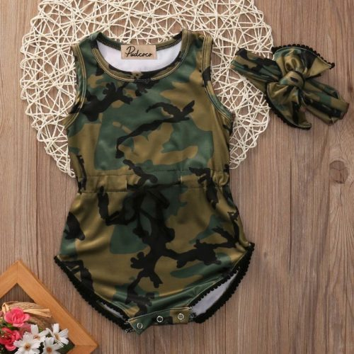Sleeveless Camo Bodysuit