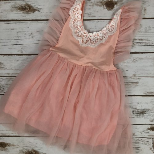 Pink Lace Toddler Dress