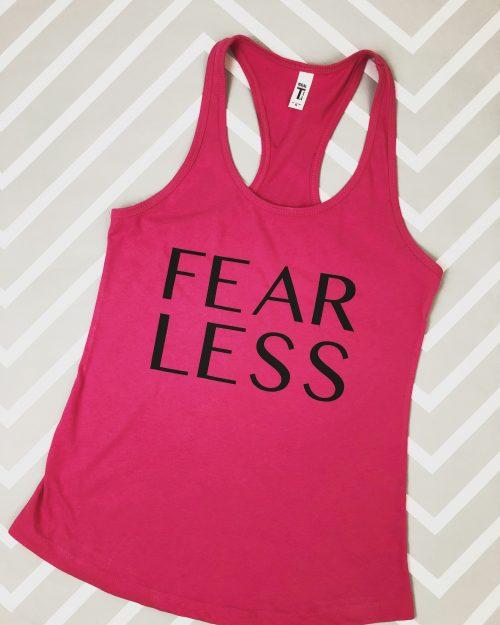 Fear Less Racerback Tank