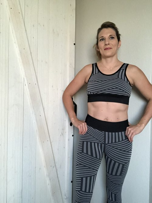 striped seamless activewear