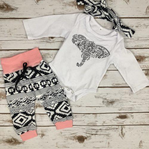 Elephant Aztec onesie outfit