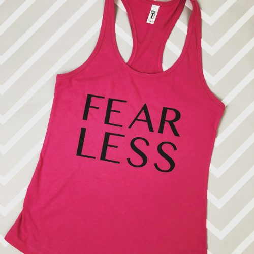 Fear Less Racerback Tank